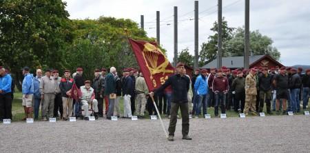 Innan ceremonin i Fallskärmsjägarlägret